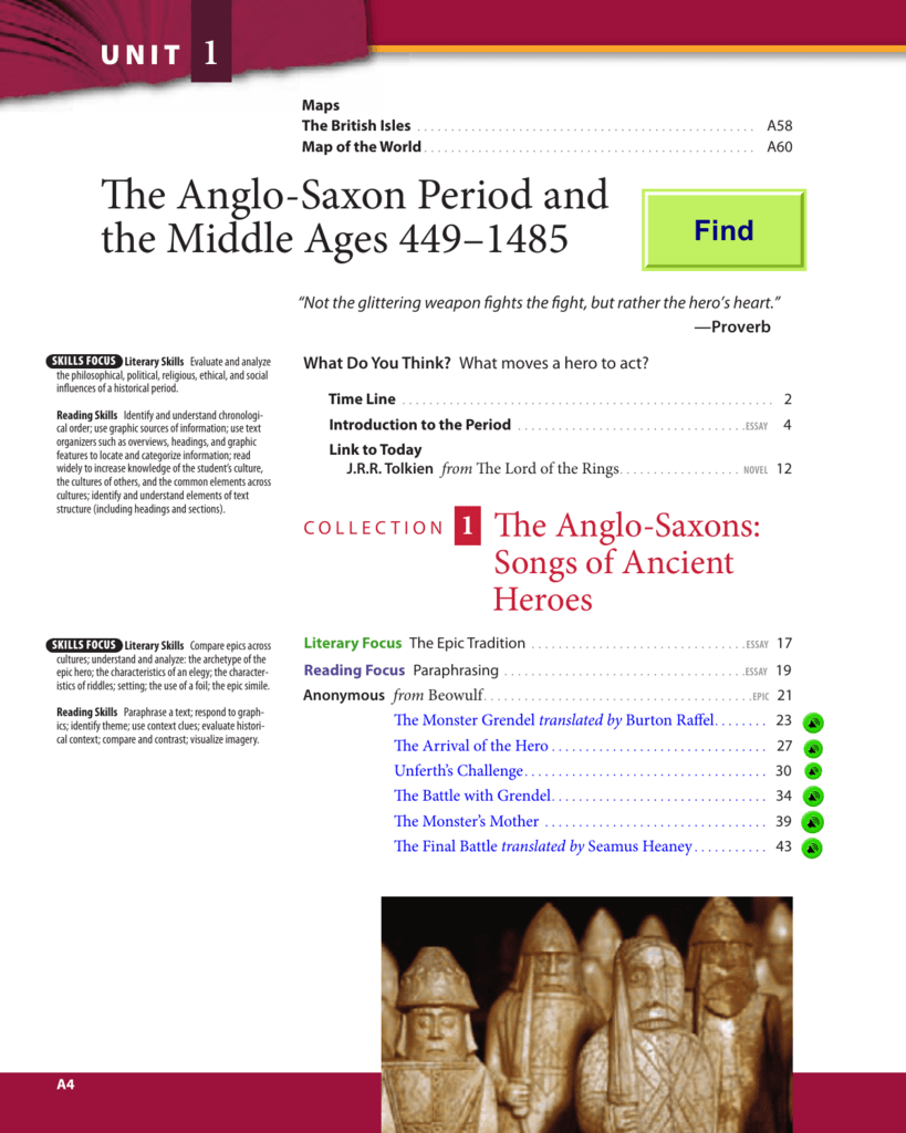 the anglo saxon and medieval periods worksheet answers