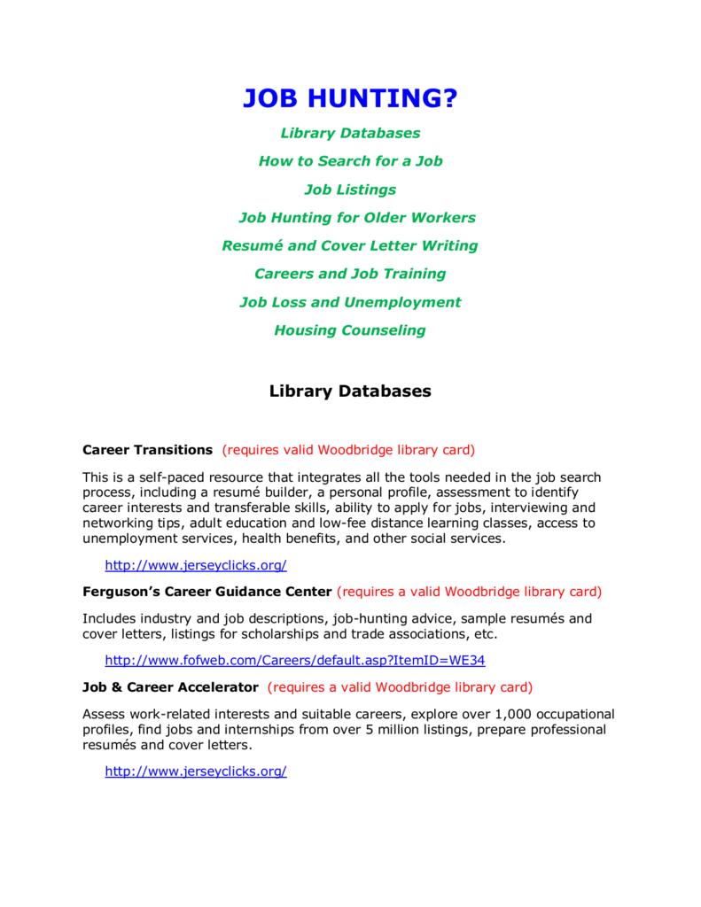 job hunting? - Woodbridge Public Library