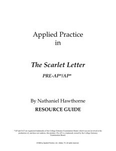Applied Practice in The Scarlet Letter