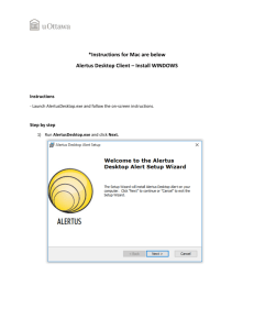 Instructions for installing Alertus