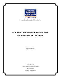 ACCREDITATION INFORMATION FOR DIABLO VALLEY COLLEGE