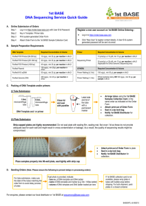 Quick Guide of Sample Submission for 1st BASE DNA Sequencing