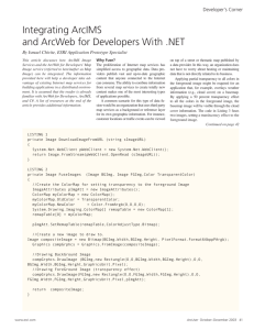 Integrating ArcIMS and ArcWeb for Developers with .NET