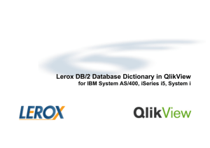Lerox DB/2 Database Dictionary in QlikView for IBM System AS/400