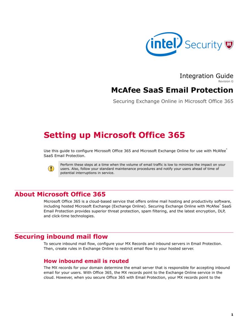 Setting up Microsoft Office 365