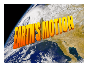 Rotation - Discover Earth Science
