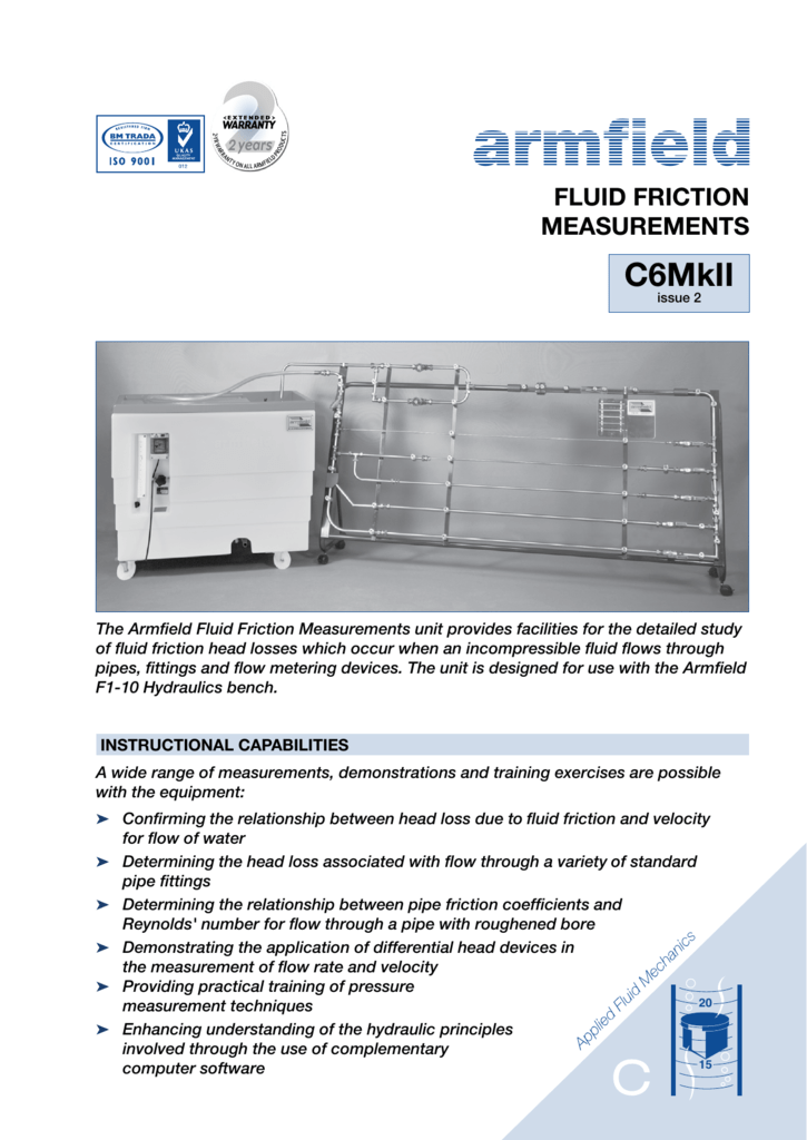 C6MKII: Fluid Friction Measurements PDF