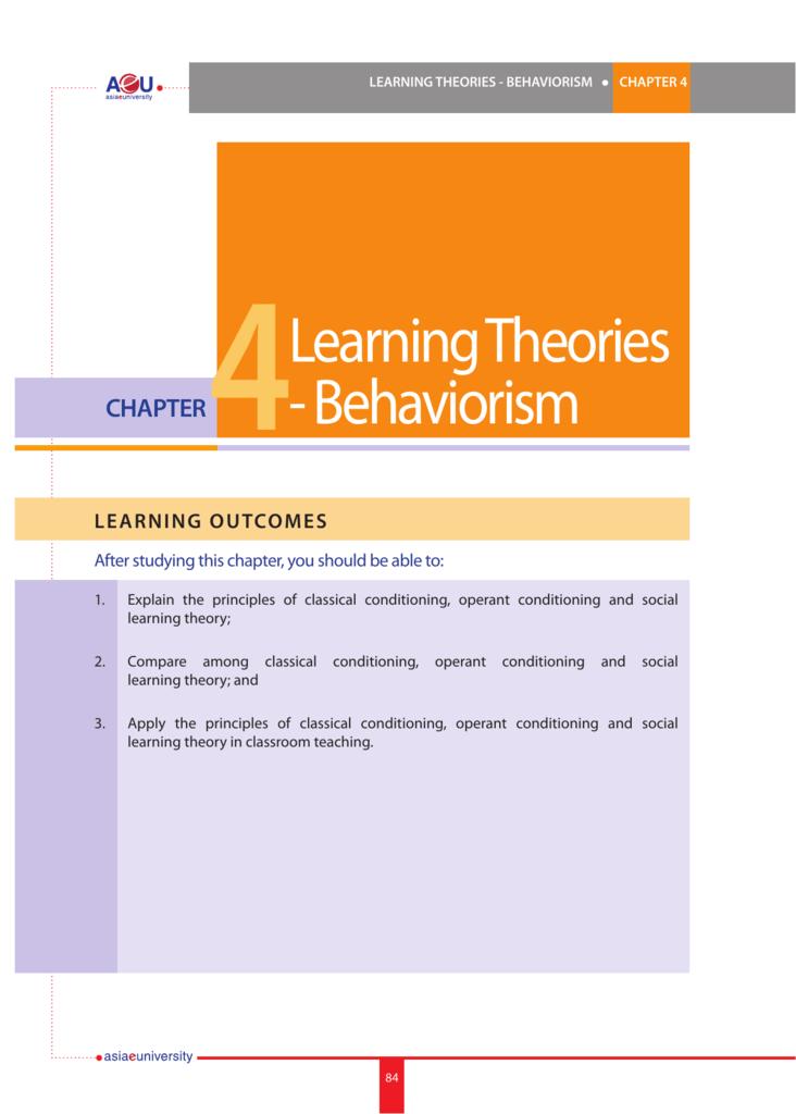 principles of behaviorism