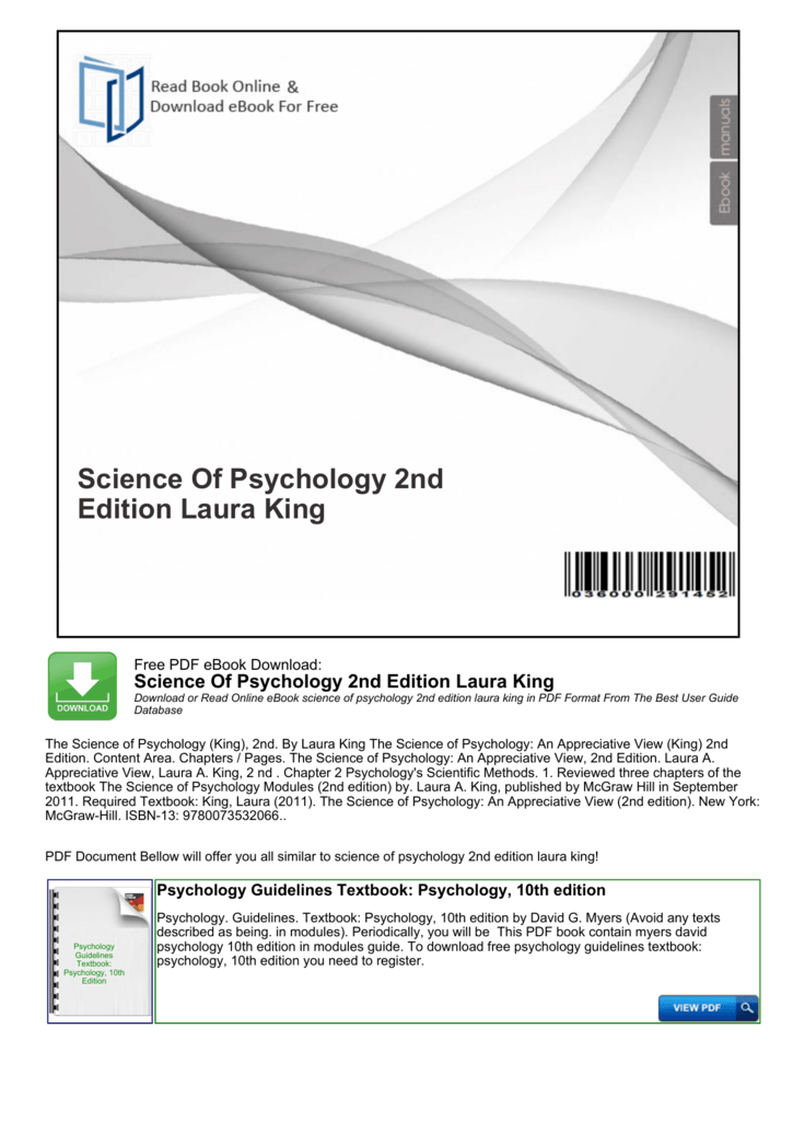 Psychological Science 4th Edition Pdf
