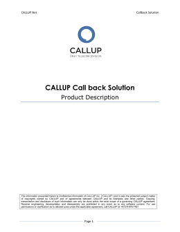 CALLUP Call back Solution