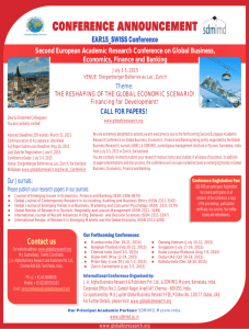 EAR15_SWISS Conference - Global Business Research Journals