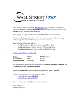 Learn financial & valuation modeling! Wall Street Prep, Inc. is