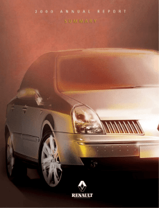 Renault - 2000 Annual Report Summary