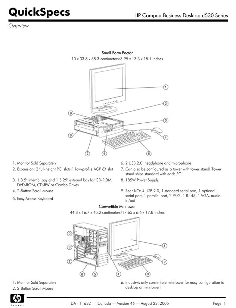 HP Compaq Business Desktop d530 Series - Hewlett