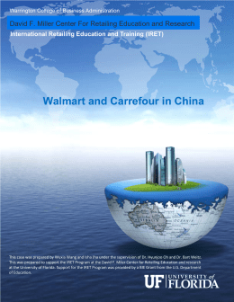 Walmart and Carrefour in China