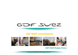 GDF SUEZ Énergie France GDF SUEZ commitments