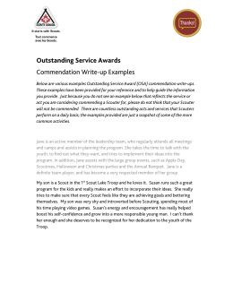 Outstanding Service Awards Commendation Write