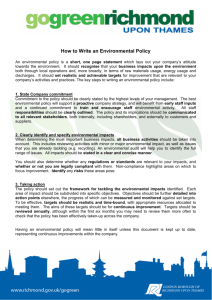 How to write an environmental policy