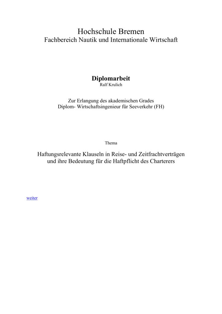 Diplomarbeit Ralf Krulich