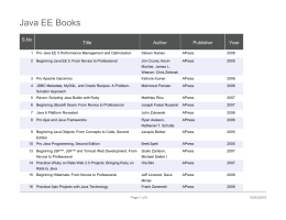 Java EE Books