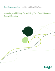 Invoicing and Billing: Formalizing Your Small Business