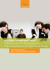hidden disadvantage? - Higher Education Authority