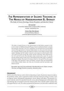 the representation of islamic teaching in the novels by