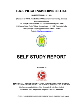 self study report - EGS Pillay Engineering College