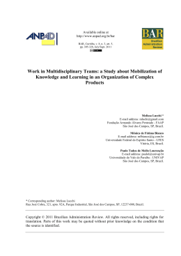 Work in Multidisciplinary Teams: a Study about Mobilization