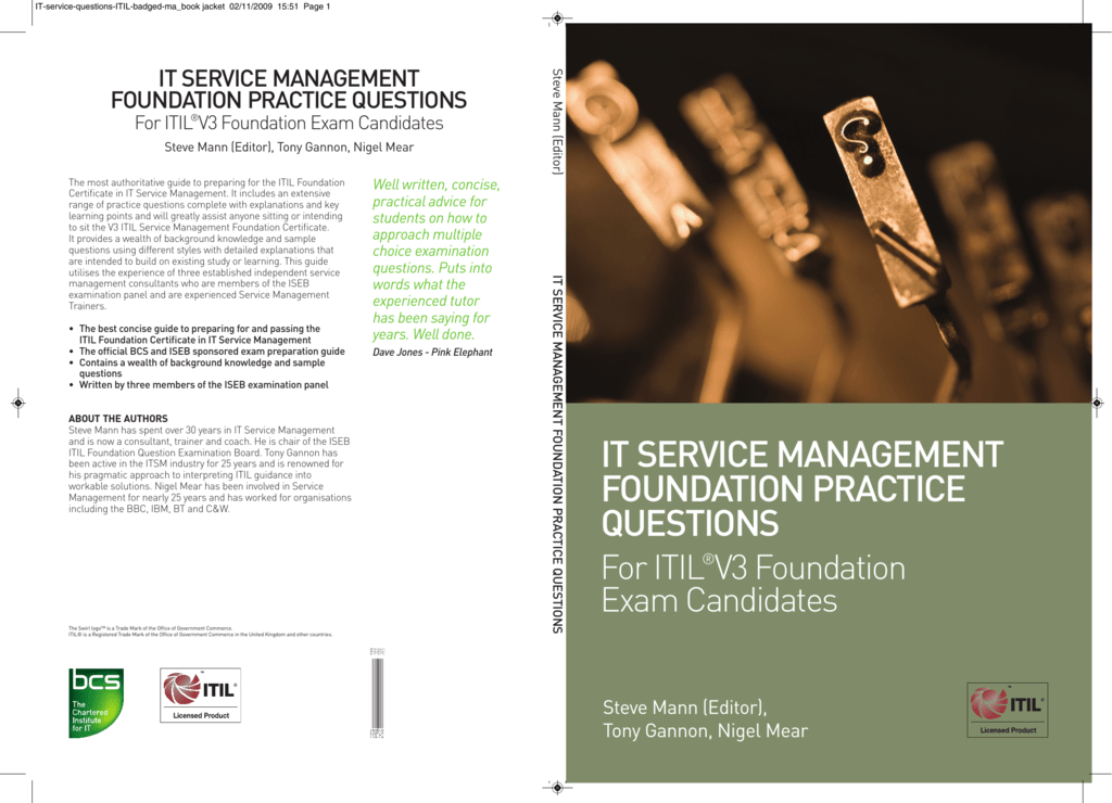 It Service Management Foundation Practice Questions