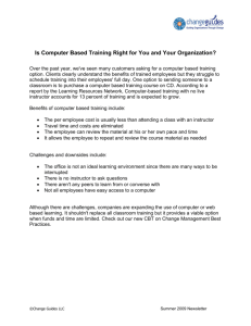 Is Computer Based Training Right for You and Your Organization?