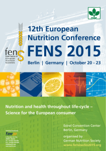 Abstract Presentations - 12th European Nutrition Conference