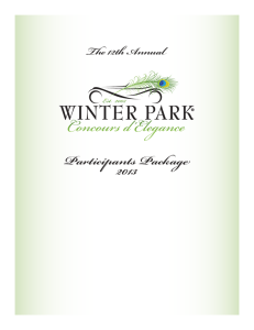 Take part in a classic.... - Winter Park Concours d'Elegance