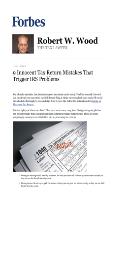 9 Innocent Tax Return Mistakes That Trigger IRS Problems
