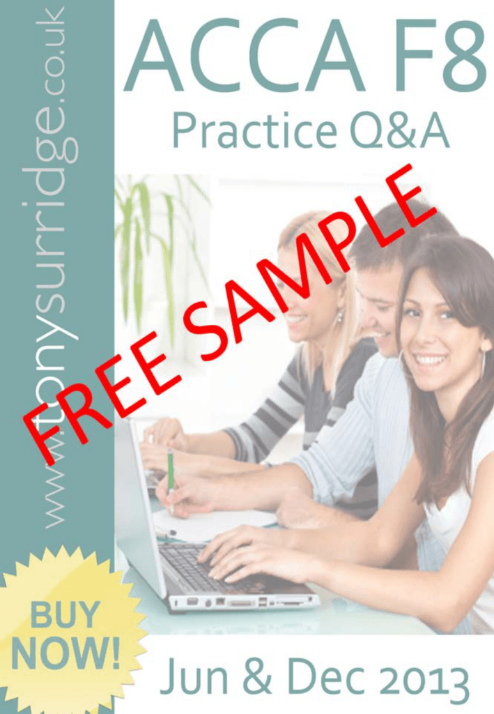questions and answers acca paper f8 international tony