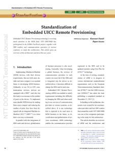 Standardization of Embedded UICC Remote Provisioning
