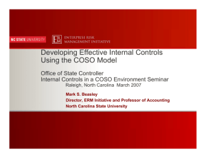 Developing Effective Internal Controls Using the COSO Model