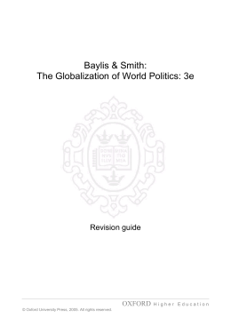 Baylis & Smith: The Globalization of World Politics: 3e