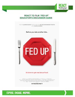 REACT to FILM Fed Up Educator's Discussion Guide Final