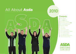 About Asda What we love about ASDA 2010