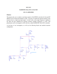 ECE 3113 HARMONIC BALANCE ANALYSIS OF AN AMPLIFIER