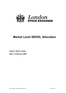 1 Introduction - London Stock Exchange
