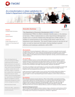 An e-transformation in citizen satisfaction for Dubai's Department of