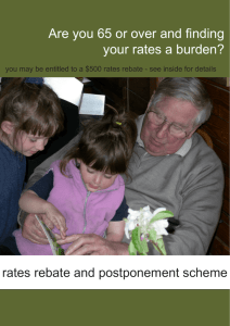 Info Sheet: Postponement and Rebates Scheme for the Elderly