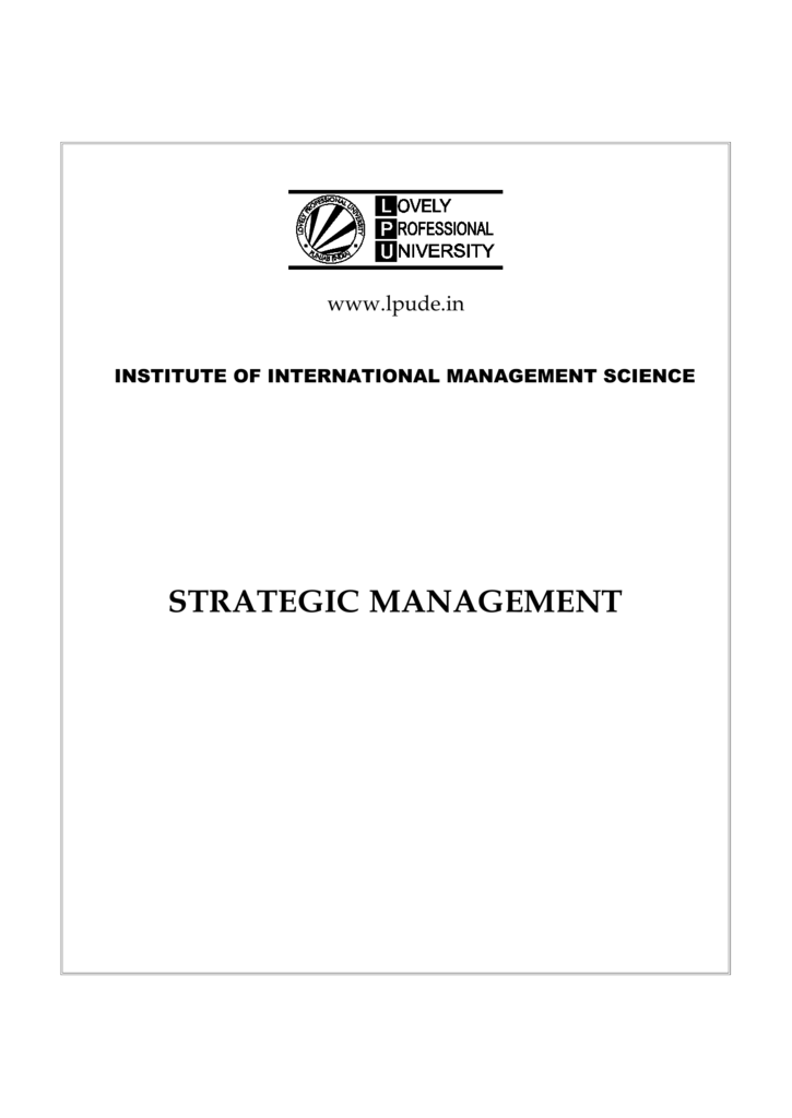 Strategic management 0088370651 0169900625237225cc6852d42b6aabbdg fandeluxe Image collections