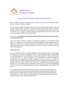 North York Women's Shelter Executive Director Job Posting