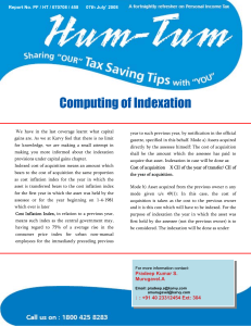 Computing of Indexation
