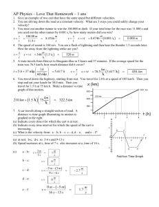 AP Physics – Love That Homework – 1 ans ( ) ( )