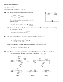 AP Physics Homework Solutions Unit 9: Electric Circuits Homework