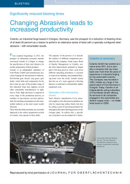 Changing Abrasives leads to increased productivity